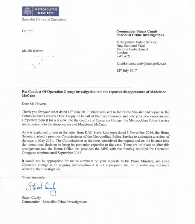 The letters to the Prime Minister and Met Police Commissioner Cressida Dick were posted on Tuesday (12 June) and I am awaiting replies which I shall post here. I have also sent a copy to the Leader of the Opposition, Jeremy Corbyn.  Cundy_10