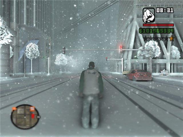 حصريا لعبة GTA San Andreas بشكلها الجديد GTA Snow Mod 2009 بمساحة 800 ميجا فقط على اكثر من سيرفر 1onng410