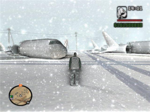 حصريا لعبة GTA San Andreas بشكلها الجديد GTA Snow Mod 2009 بمساحة 800 ميجا فقط على اكثر من سيرفر 2zxms010