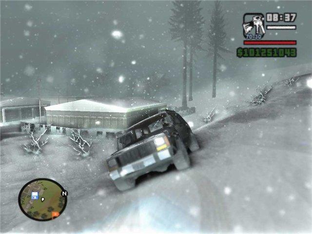 حصريا لعبة GTA San Andreas بشكلها الجديد GTA Snow Mod 2009 بمساحة 800 ميجا فقط على اكثر من سيرفر 5l826q10