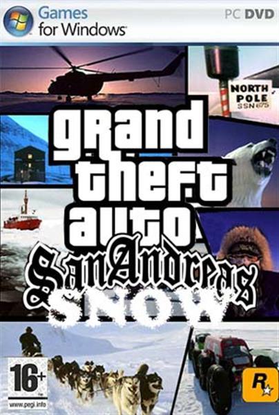 حصريا لعبة GTA San Andreas بشكلها الجديد GTA Snow Mod 2009 بمساحة 800 ميجا فقط على اكثر من سيرفر Xyog410