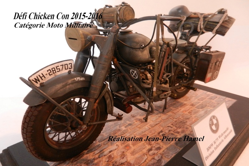 Moto BMW R/75 Solo Wehrmacht Division Infanterie Chicke10