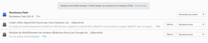 Modules complémentaires Firefox Plugin10