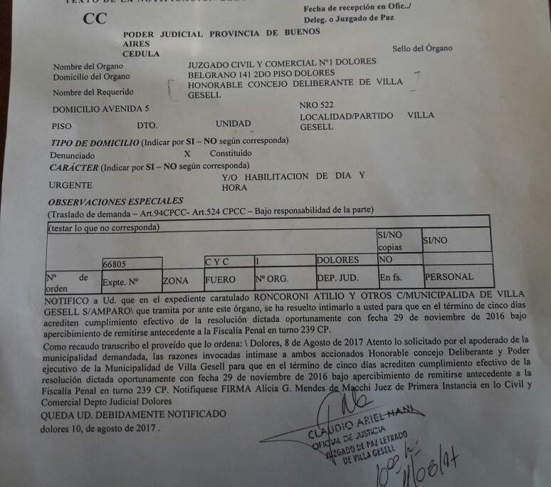 Villa Gesell: La Justicia intimó al HCD en la causa por los basurales clandestinos 00119