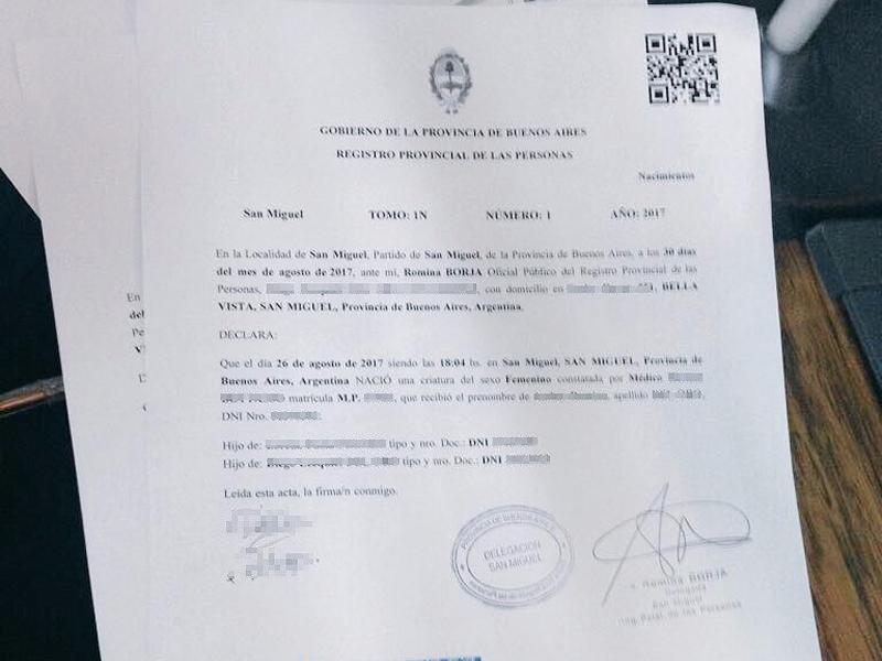 San Miguel realizó el primer acta de nacimiento digital de la historia de la provincia 00133