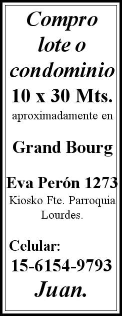 bourg - Compro terreno en Grand Bourg. Aviso_24