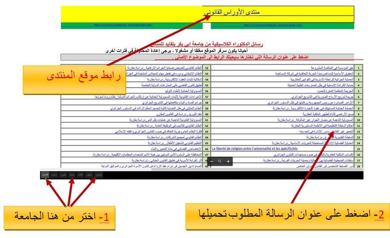 مكتبة مذكرات ورسائل التخرج من مواقع الجامعات الجزائرية Captu134