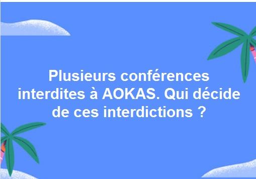 La conférence-débat prévue avec Armand Vial le samedi 10 juillet 2017 à 14 h au centre culturel Rahmani d'Aokas est interdite par les autorités. 120