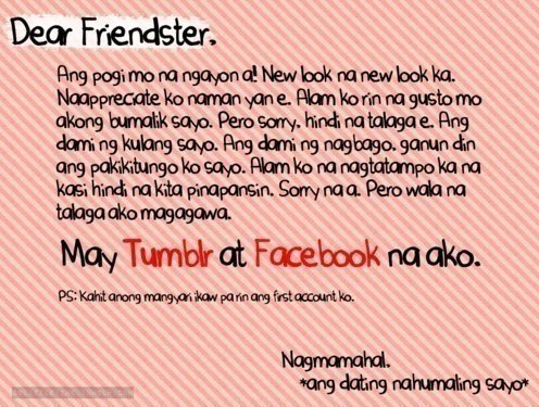 Dear Friendster, Weee10