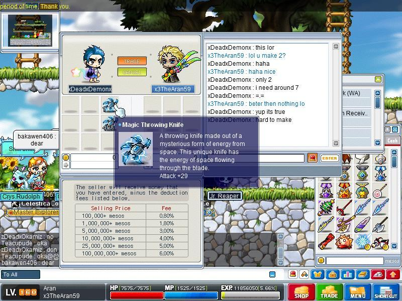 Magic Throwing Knife in MapleSEA Magic_10