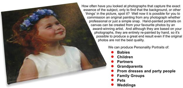 "Personalty Portraits ""Great Gift Idea"" Canvas Portraits Person10"