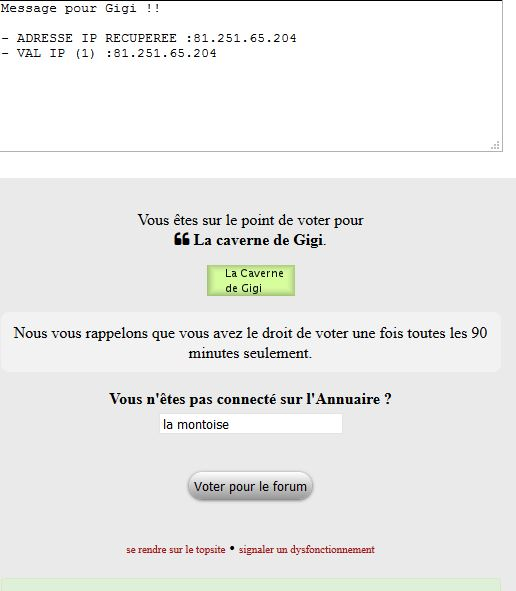 Mes votes sur top sites Captur50