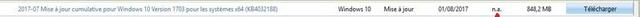 Mise à jour cumulative KB4032188 Windows10 N_a_jp10