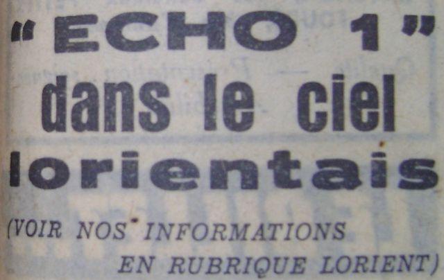 12 août 1960...Echo 1 60090510