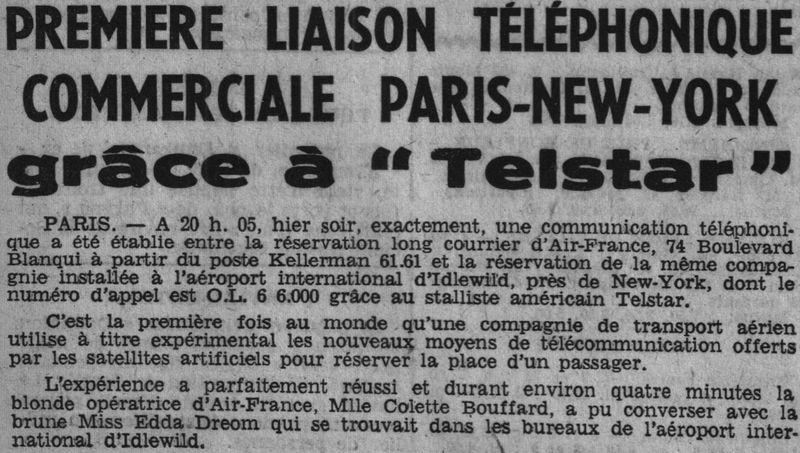 10 juillet 1962 - lancement de Telstar 1 par Delta 62081010