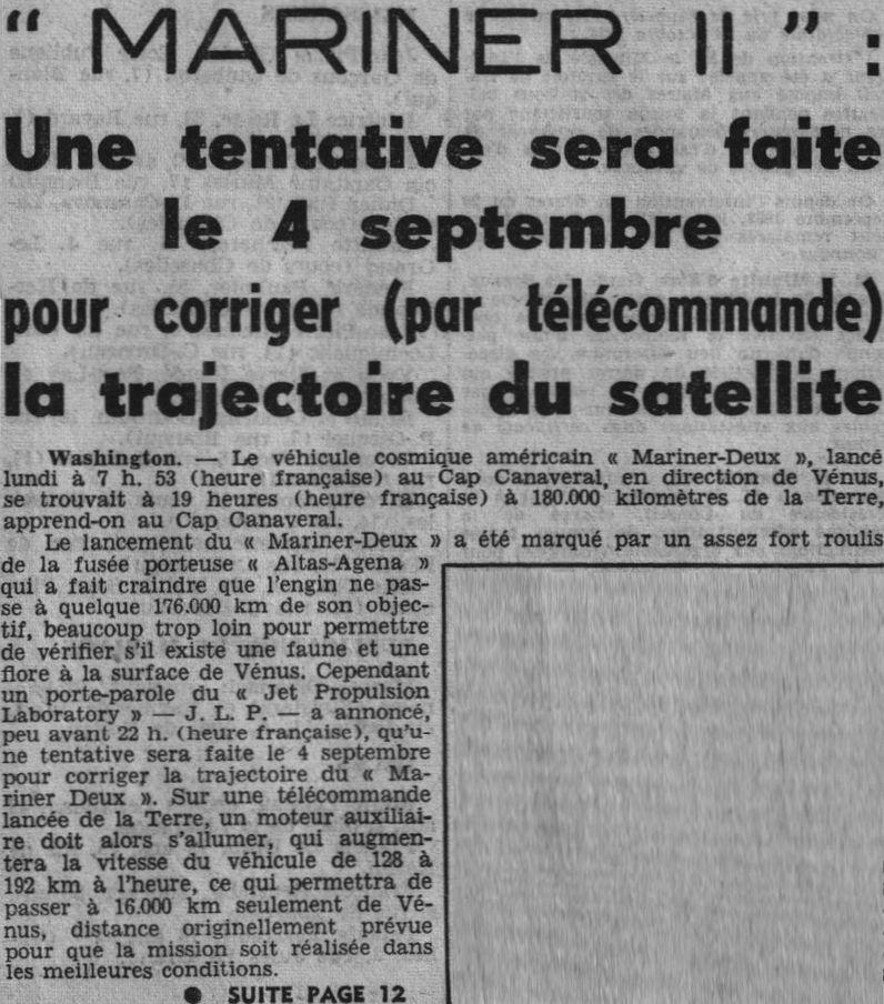 27 août 1962 - Mariner 2 - 1er survol réussi de Vénus 62082910
