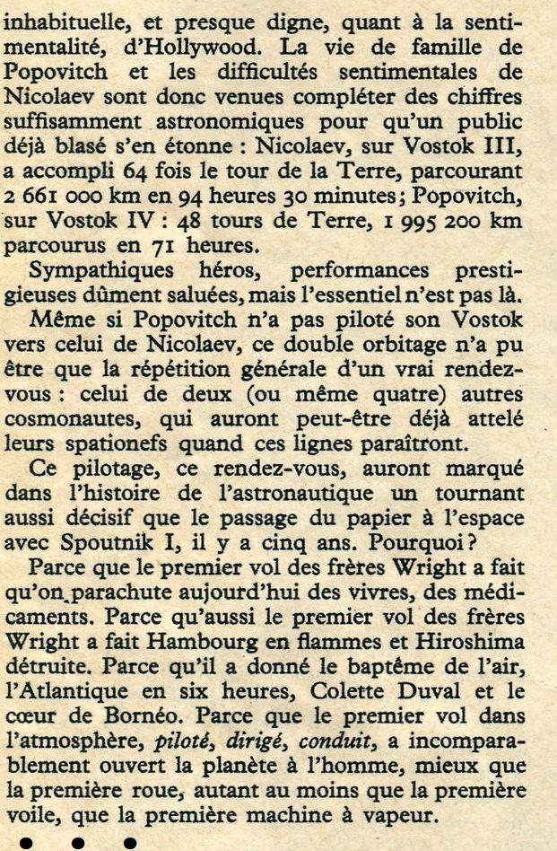 Vostok 3, Vostok 4 - 11, 12 août 1962 - 1ers vols groupés 62100010