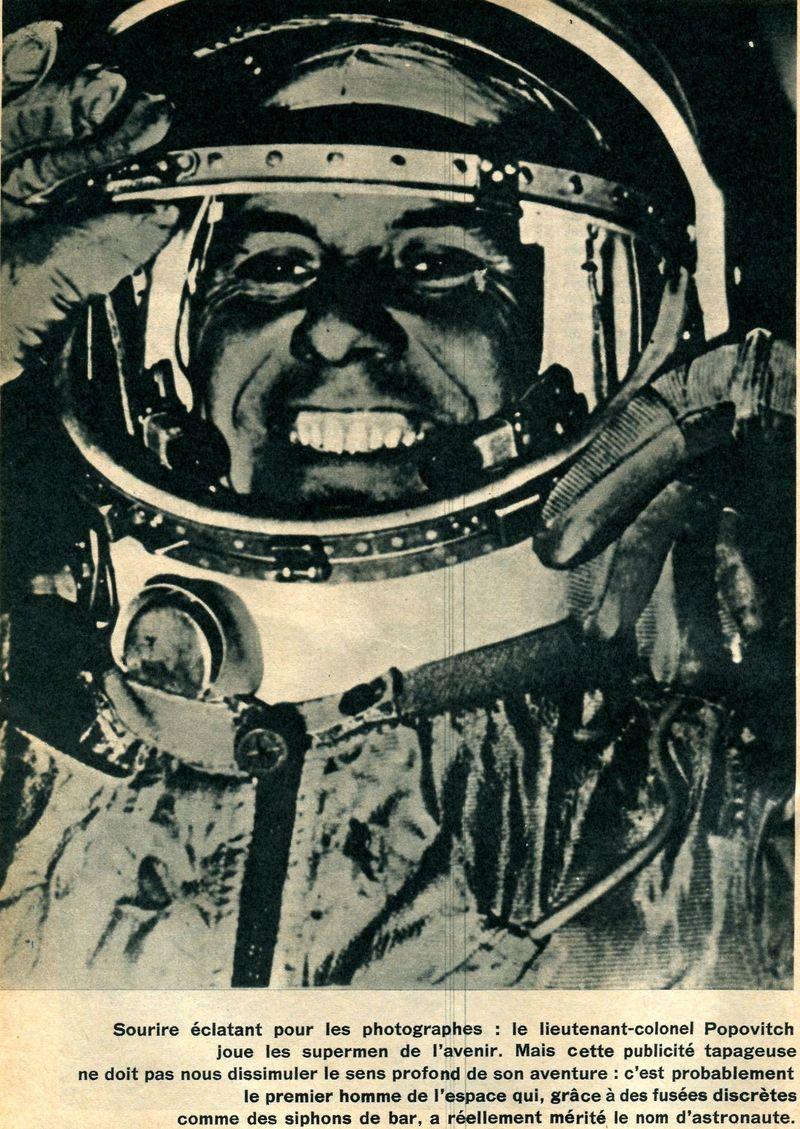 Vostok 3, Vostok 4 - 11, 12 août 1962 - 1ers vols groupés 62100011