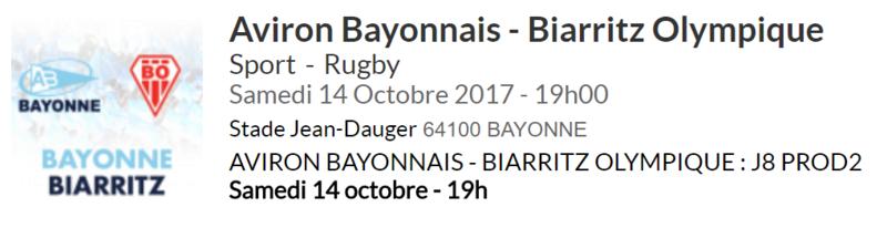 AVIRON BAYONNAIS - BOPB (8ème journée) 610