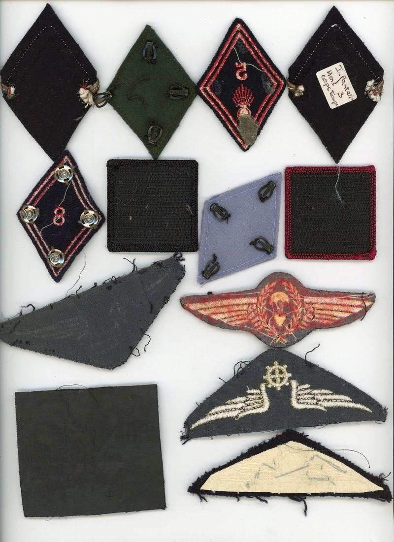 Lot insignes tissus  divers losanges, brevet para aéronautique, etc... ALPINS-SEPTEMBRE2  Terminée Divers13