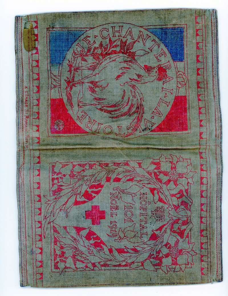 Etui pour livret militaire 14/18 Noel 1915 Hôpital annexe 101  avec citation Rouget de L'isle -ALPINS-SEPTEMBRE1 Livret10