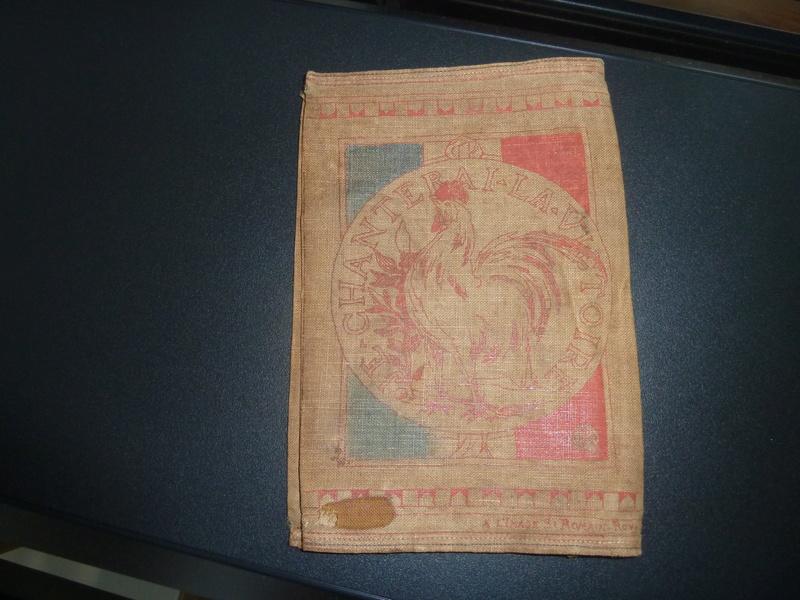 Etui pour livret militaire 14/18 Noel 1915 Hôpital annexe 101  avec citation Rouget de L'isle -ALPINS-SEPTEMBRE1 P1090317