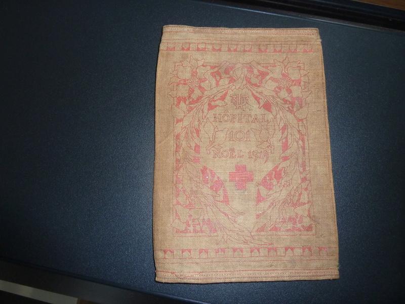 Etui pour livret militaire 14/18 Noel 1915 Hôpital annexe 101  avec citation Rouget de L'isle -ALPINS-SEPTEMBRE1 P1090318