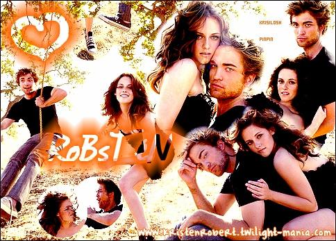Kristen Stewart & Robert Pattinson(L)