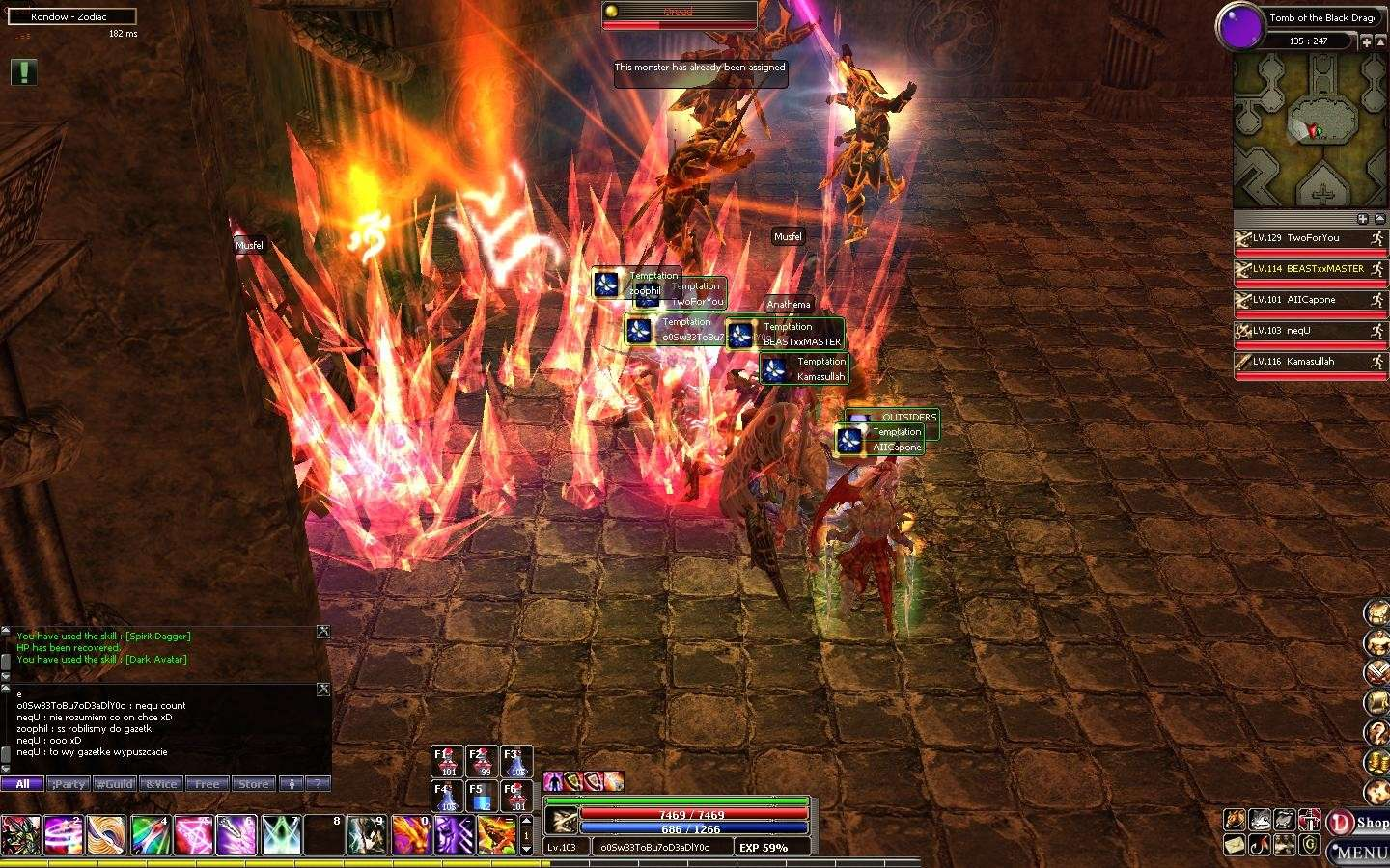 Guild Helping to kill dragon in TOMB Dekar146