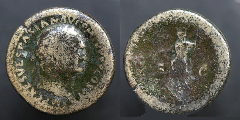 Sesterce de Vespasien Vespas10