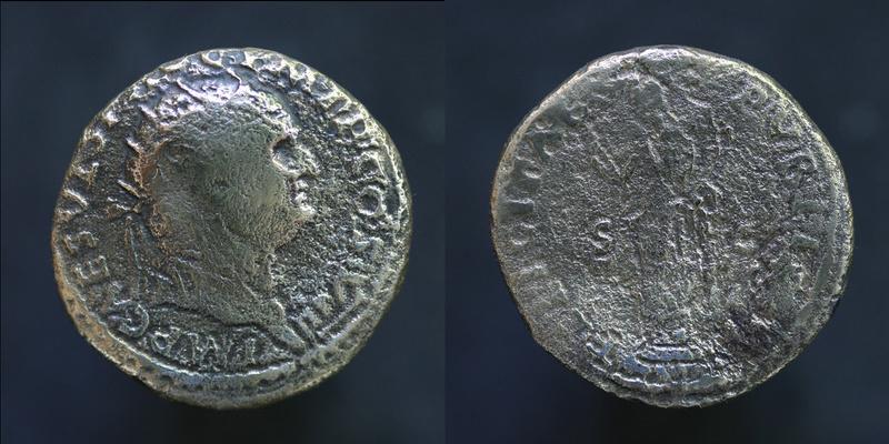 Sesterce de Vespasien Vespas13