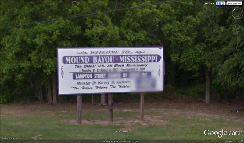 La plus vieille ville noire aux US Mound Bayou Mississippi USA M110