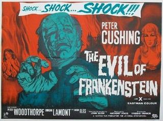 """""""Frankensteins Ungeheuer"""" ( The Evil of Frankenstein, Großbritannien, 1964 ) 1964-t10"""