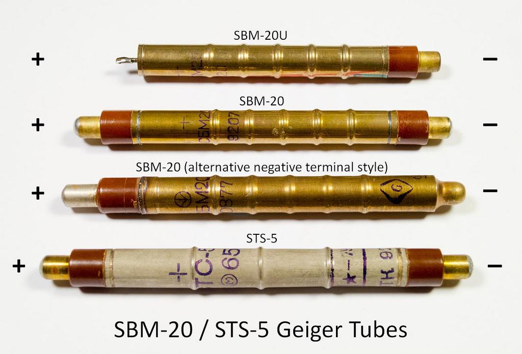 Tubes Geiger-Müller type SBM-20, STS-5 et BOI-33 15620210