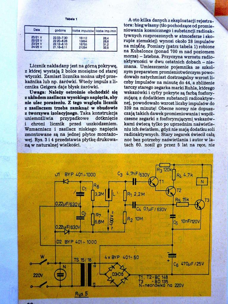 Tubes Geiger-Müller type SBM-20, STS-5 et BOI-33 6010