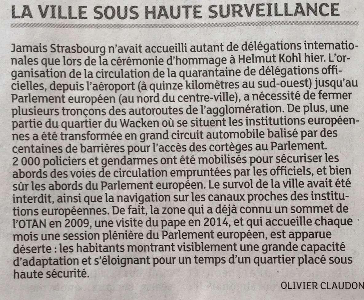 Strasbourg sous « une cloche sécuritaire » ce samedi 1 juillet 2017 Captur17