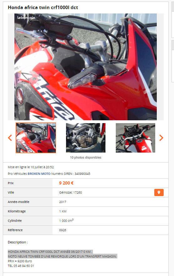 CRF 1000 DCT neuve O Km _ moins de 10 000 € Captur10