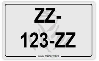 Plaque immatriculation 13 X 21 Plaque10