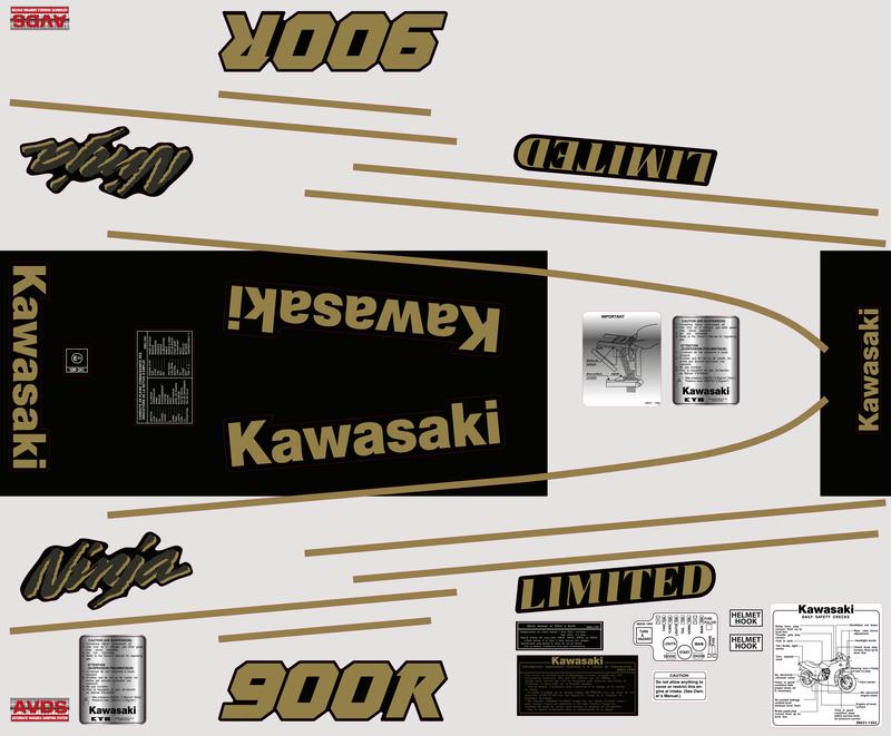 GPZ900R sticker 01905_10