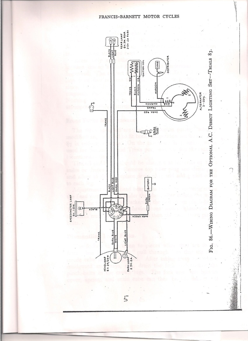 Wiring For Amc Trials Comparable Diagrams This Is The Diagram Completion Bikes As You Can See Ignition Totally Separate From Thr Lighting Coils Coil Feeds A