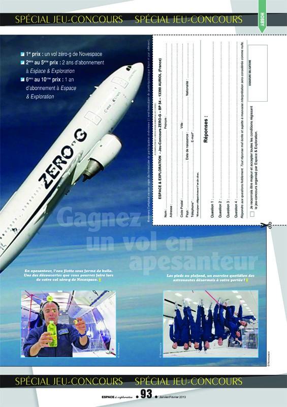Concours organisé par E&E : gagnez un vol en apesanteur ! Concou10