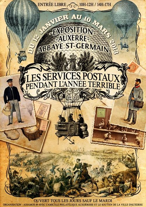 expo à Auxerre : Les services postaux pendant l'année terrible Affich10