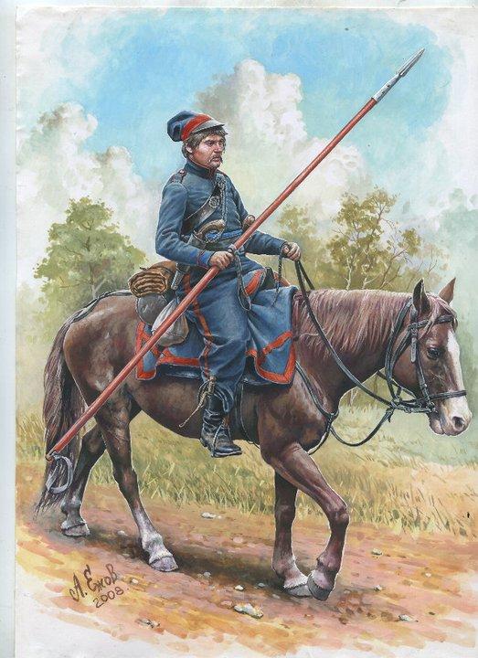 russe : regiment de cosaques de sibérie Cosaqu10