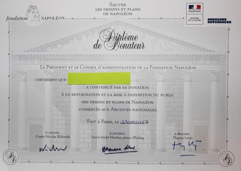 Nouvelle Souscription internationale de la Fondation Napoléon  Img_4110