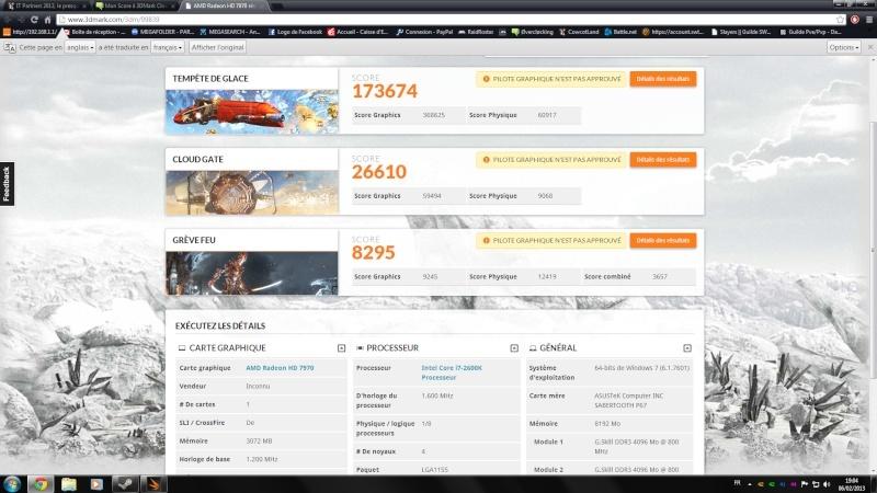 Mon Score à 3DMark Cloud Gate Sans_t10