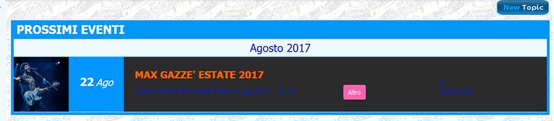 Nuova funzionalità su Forumattivo: gli Eventi! Schifo10