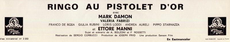 Ringo au Pistolet d'or - Johnny Oro - 1966 - Sergio Corbucci 2_150211