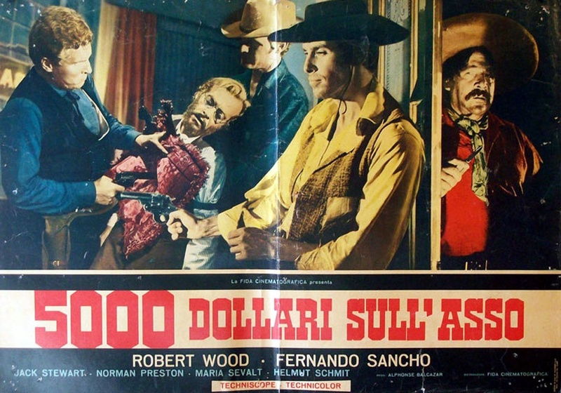5.000 dollars sur l'as . Pistoleros de Arizona . 1964 . Alfonso Balcazar. 8756510