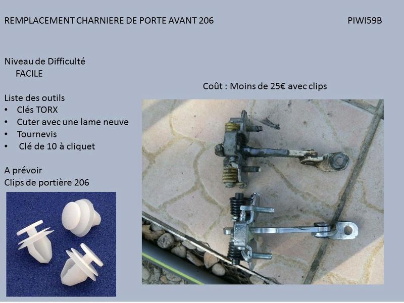 REMPLACEMENT CHARNIERE 206 PORTE AVANT  ( TUTO ) Diapos16