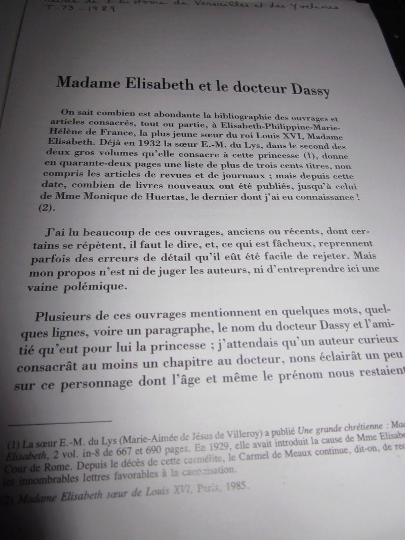 Une idylle amoureuse entre le docteur Dassy et Madame Elisabeth ?  Img_0019